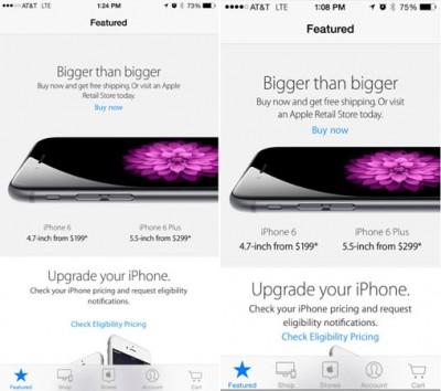 Update Apple Store, Hadirkan Dukungan Untuk iPhone6