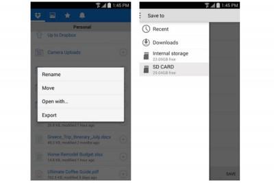 Dropbox di Android Kini Bisa Ekspor File ke SDCard